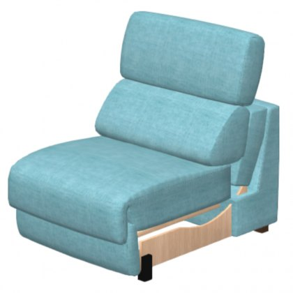 Fama Loto Fabric Single Seat Armless Mod