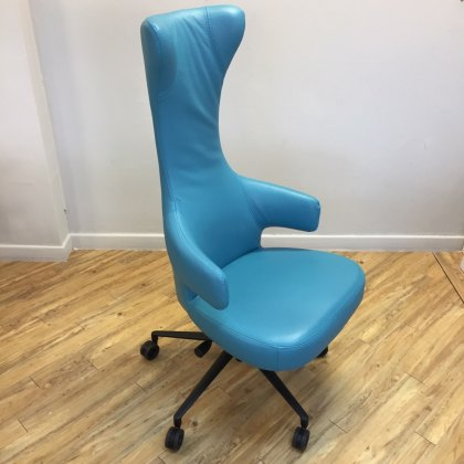 Siddy Office Chair in leather