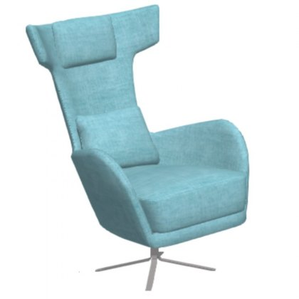 Fama Kangou Fabric Swivel Armchair