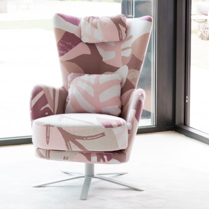 Fama Kylian Fabric Swivel Armchair