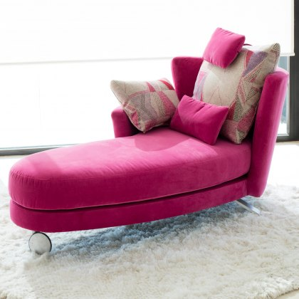 Fama Pauline Fabric Chaise Left