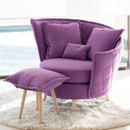 Fama Volta Left Fabric Armchair