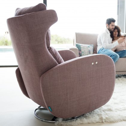 Fama Kim fabric power recliner armchair