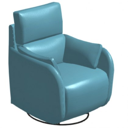 Fama Adan Leather Power Recliner Armchair