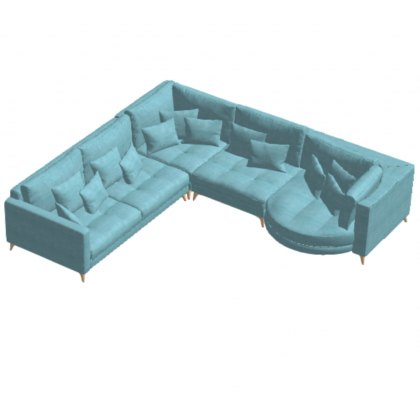 Fama Opera 3 seater Corner with Chaise Right