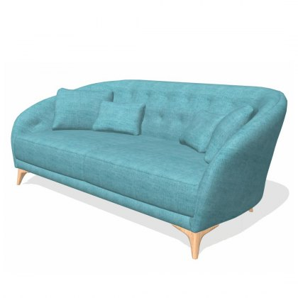 Fama Astoria fabric 3 Seater B sofa