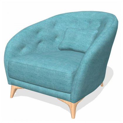 Fama Astoria fabric S Armchair
