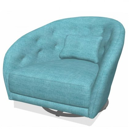 Fama Astoria fabric SG Swivel Armchair
