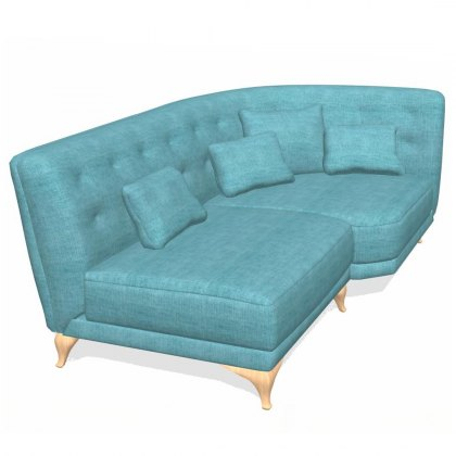 Fama Astoria fabric chaise left RH1 Module