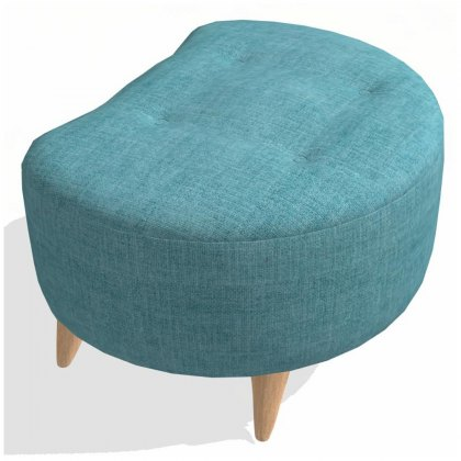 Fama Astoria fabric Footstool PUFT