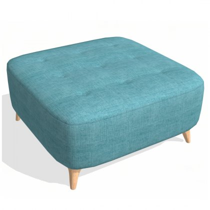 Fama Astoria fabric Footstool PUFD
