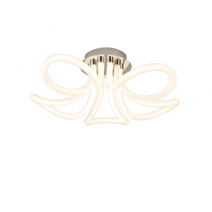 Lorca Chrome Large Loop Semi Flush Ceiling Light