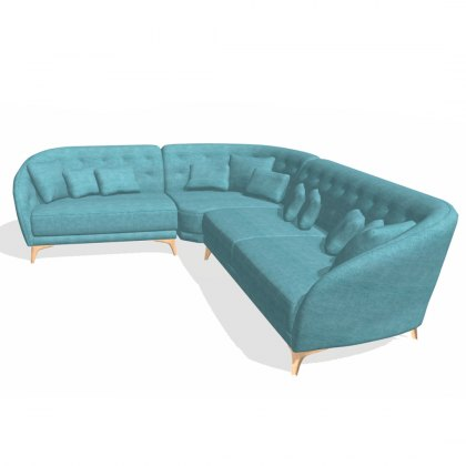 Fama Astoria fabric 3 seater corner left