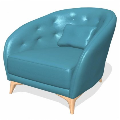 Fama Astoria leather S Armchair