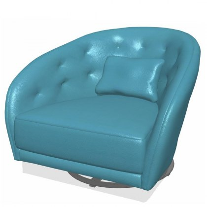 Fama Astoria leather SG Swivel Armchair