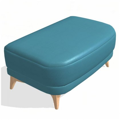Fama Astoria leather Footstool P Terminal Module