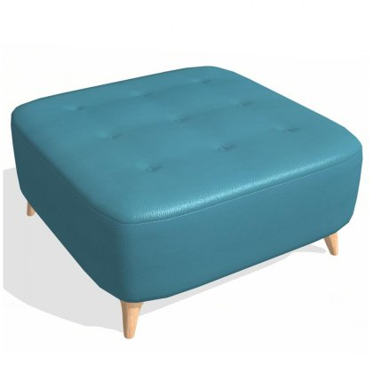 Fama Astoria leather Footstool PUFD