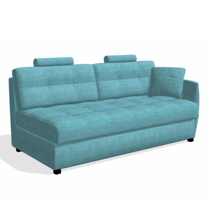 Fama Bolero 4 seater sofabed right curved arm module