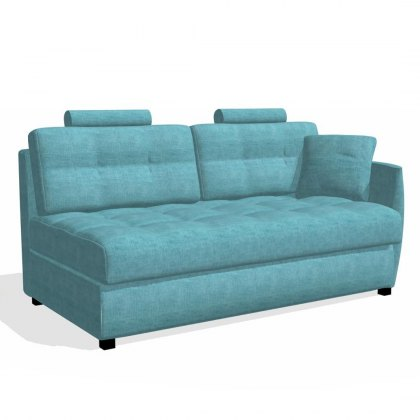 Fama Bolero 3 seater sofabed right curved arm module