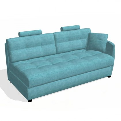 Fama Bolero 4 seater sofa right curved arm module