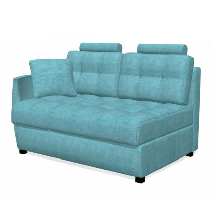 Fama Bolero 2 seater sofa left curved arm module
