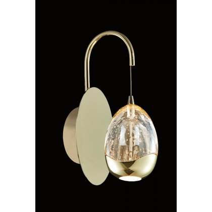 Modia 1L gold wall light