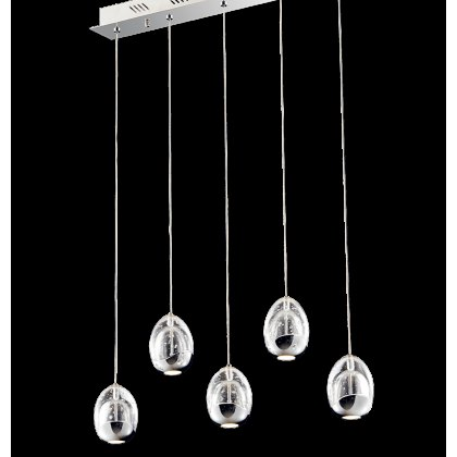 Modica 5L chrome bar pendant