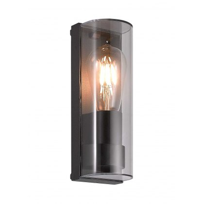 Monzon coastal outdoor anthracite curved wall light