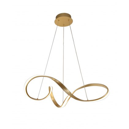 Basille Gold Large Twist Pendant Light