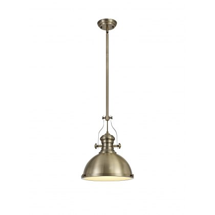 Ludeiros Antique Brass Single Pendant