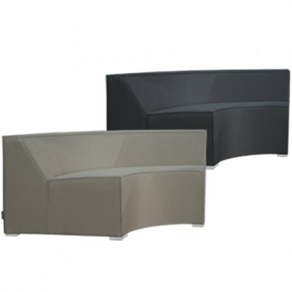 Sahara curved outdoor seat