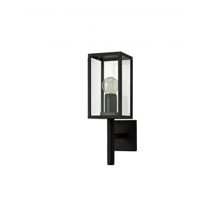 Mozota Coastal outdoor graphite upward box lantern wall light