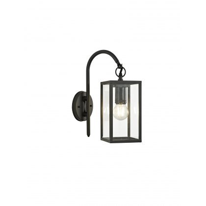 Mozota Coastal outdoor graphite downward box lantern wall light