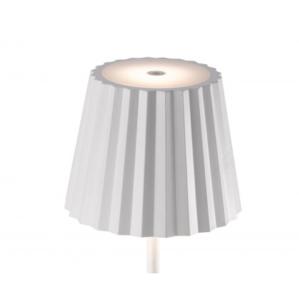 Pleat table lamp white