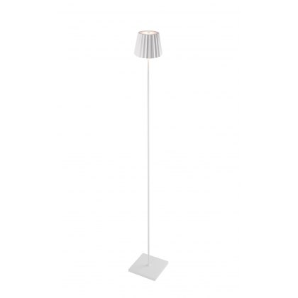 Pleat floor lamp white