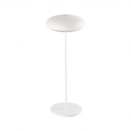 Saucer table lamp white