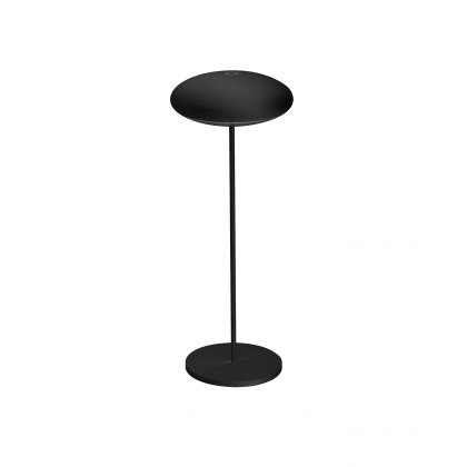 Saucer table lamp black