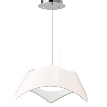 Triple white pendant light