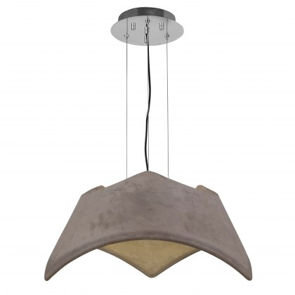 Triple cement pendant light