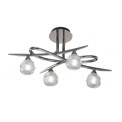 Palacio Four chrome semi flush light