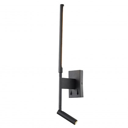 Wand One black reading light