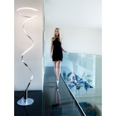 Librilla One Eighty chrome floor light