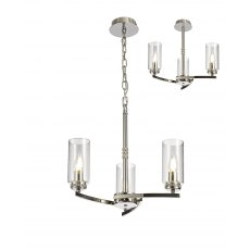 Domecelle Nickel 3 Light Pendant Ceiling Light