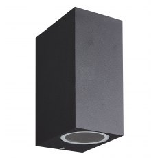 Zamora Coastal Twin Sqaure black wall light