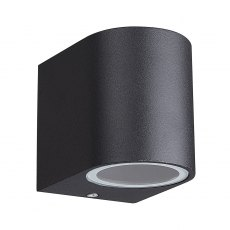 Zamora Coastal Single Round black wall light