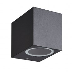 Zamora Coastal Single Square black wall light