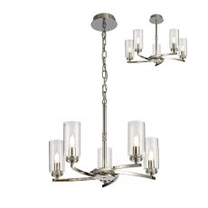 Domecelle Nickel 5 Light Pendant Ceiling Light