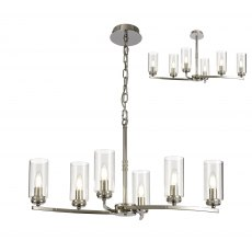 Domecelle Nickel 6 Light Pendant Ceiling Light