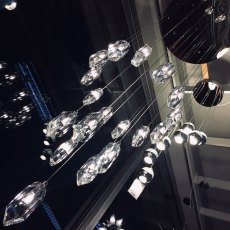 DAR CRY1850 Crystal LED 18 Light Ceiling Pendant Polished Chrome