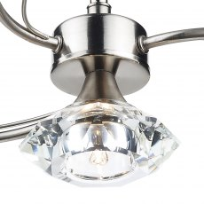 Kendal 4 satin chrome semi flush pendant light